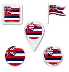 Hawaii state flag vector