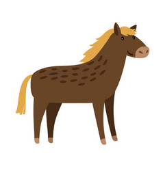 Horse cute cartoon icon vector