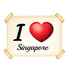 I love singapore vector