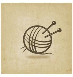 knitting symbol old background vector image