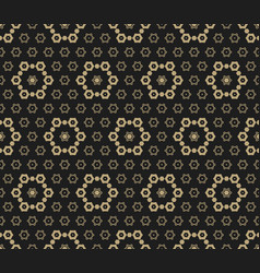 luxury golden seamless pattern vector image
