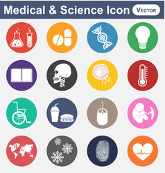 Medical and science icon vector