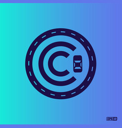 Modern professional logo monograma c in blue theme vector