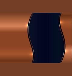 modern template design 3d wave gold metal texture vector image