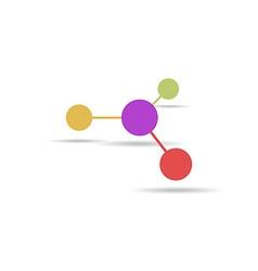 Molecule sign flat icon vector