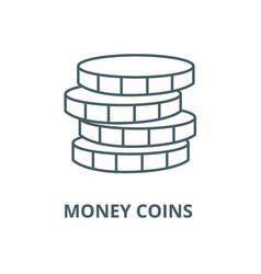 money coins line icon linear concept vector image