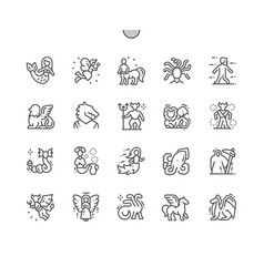Mythical creatures well-crafted pixel vector