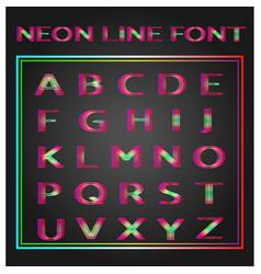 Neon lines font vector