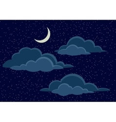 Night Sky with Clouds vector