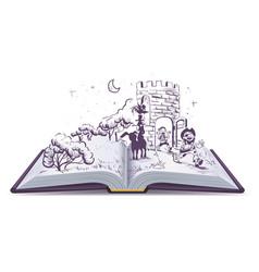 open book tale of bremen musicians vector image vector image