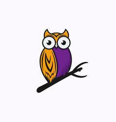 Owl logo template vector