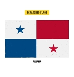 Panamanian grunge flag vector image