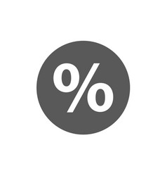 percent sign icon simple vector image