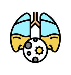 Pneumonia inflammation color icon vector