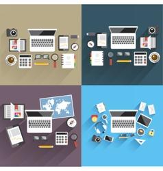 Print flat office vector