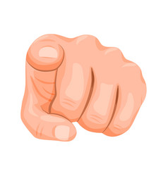 Realistic human hand pointing finger at viewer vector
