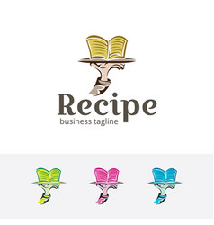 recipe logo vector image