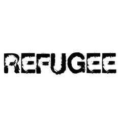 Refugee stamp on white vector