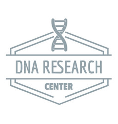 Research dna logo simple gray style vector