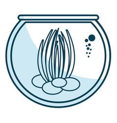 Sea weed in aquarium vector