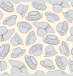 seamless pattern with hats vector image