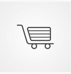 Shopping cart icon sign symbol vector