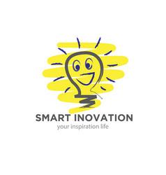 smart innovation logo designs for motivation vector image