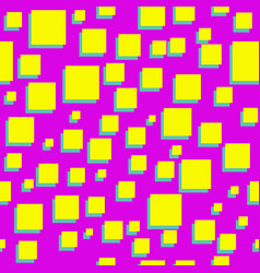 squares abstract 80s seamless pink pattern vector image