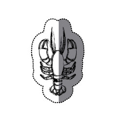 Sticker monochrome blurred line contour with vector