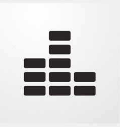 Volume sign icon flat design style for web vector