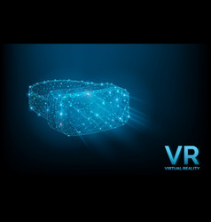 vr glasses headset virtual reality helmet vector image