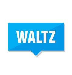 waltz price tag vector image