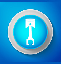 white engine piston icon car engine piston sign vector image
