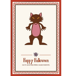 With halloween and rat vector