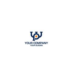 Wp plumbing logo design vector