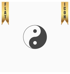 Ying yang symbol of harmony and balance vector