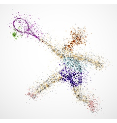 Abstract tennis player2 vector image