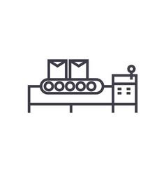 conveyor belt line icon sign vector image