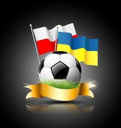 European Football 2012 and flag vector image vector image