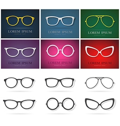 Glasses Group vector image