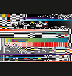 glitch background computer vector image