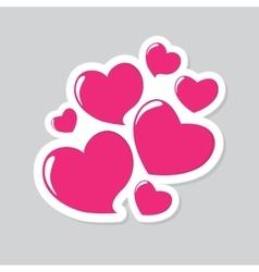 Heart Form Sticker vector image