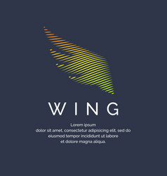 modern colored wing in a futuristic style vector image vector image