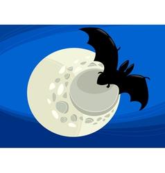 bat at night cartoon vector image vector image
