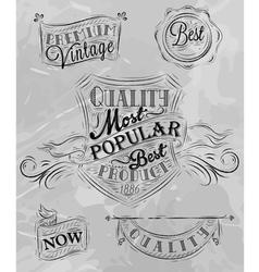 Heraldry chalk premium gray vector image