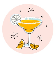 retro yellow margarita vector image vector image