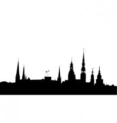 Riga panorama vector image