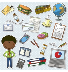 African-American Businessman vector image