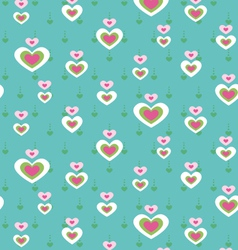 cute heart seamless pattern vector image vector image