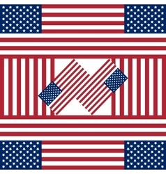 Patriotic USA background with american flags vector image